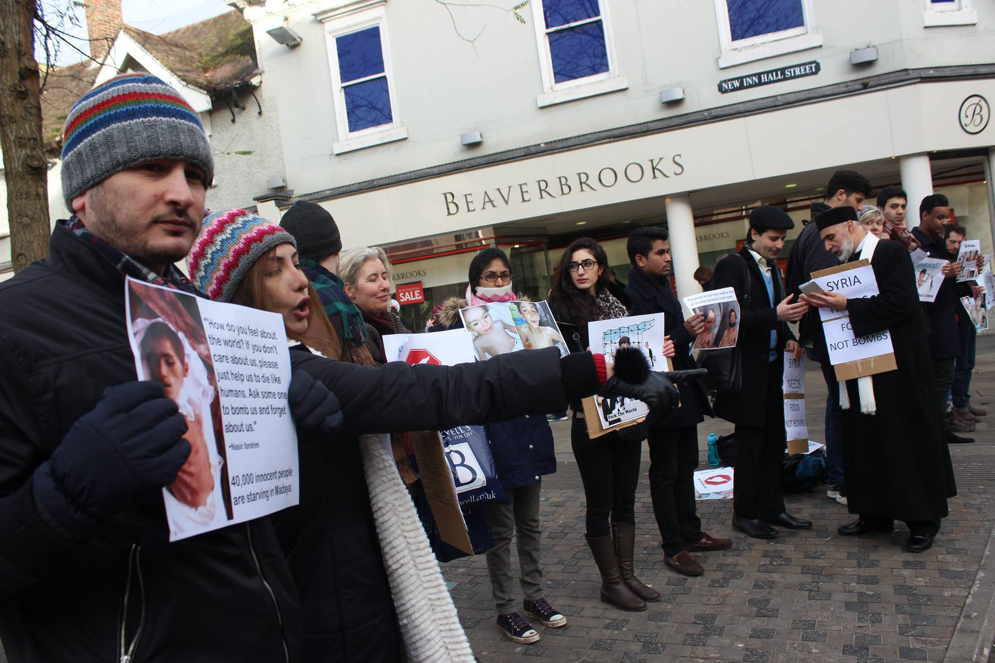 Syrian starvation prompts protest in Oxford