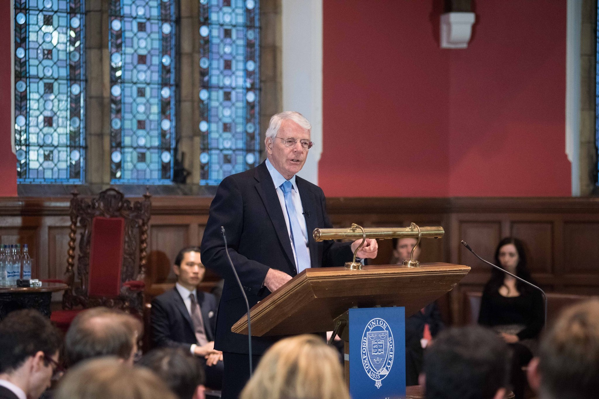 John Major hits out at 'divisive' Brexit arguments at the Oxford Union