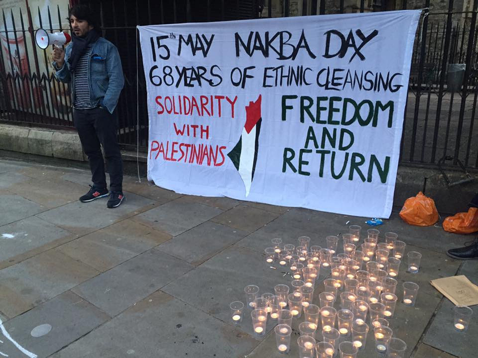 Palestine vigil for 'al-Nakba' ends on a sour note