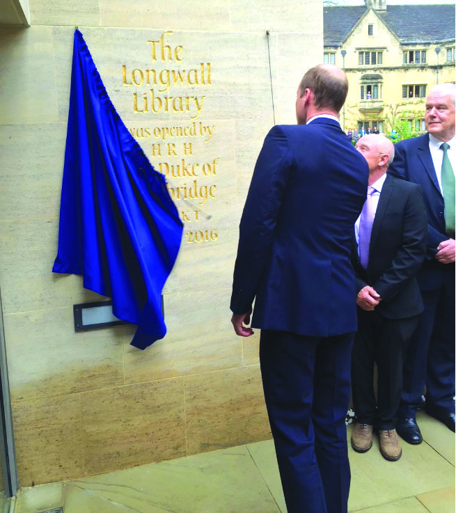 Prince William opens renovated Magdalen Library
