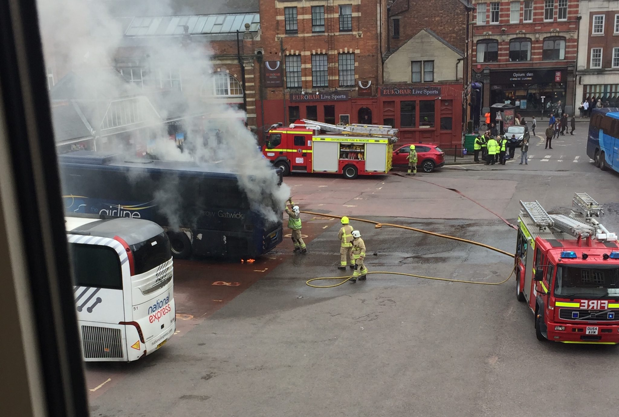 Gloucester Green Bus station shut down after coach catches fire