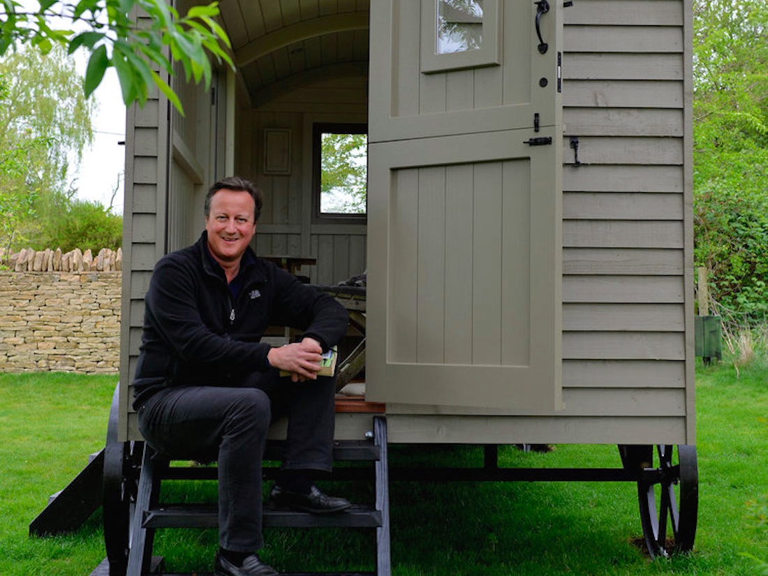 What should David Cameron have spent his shed money on?
