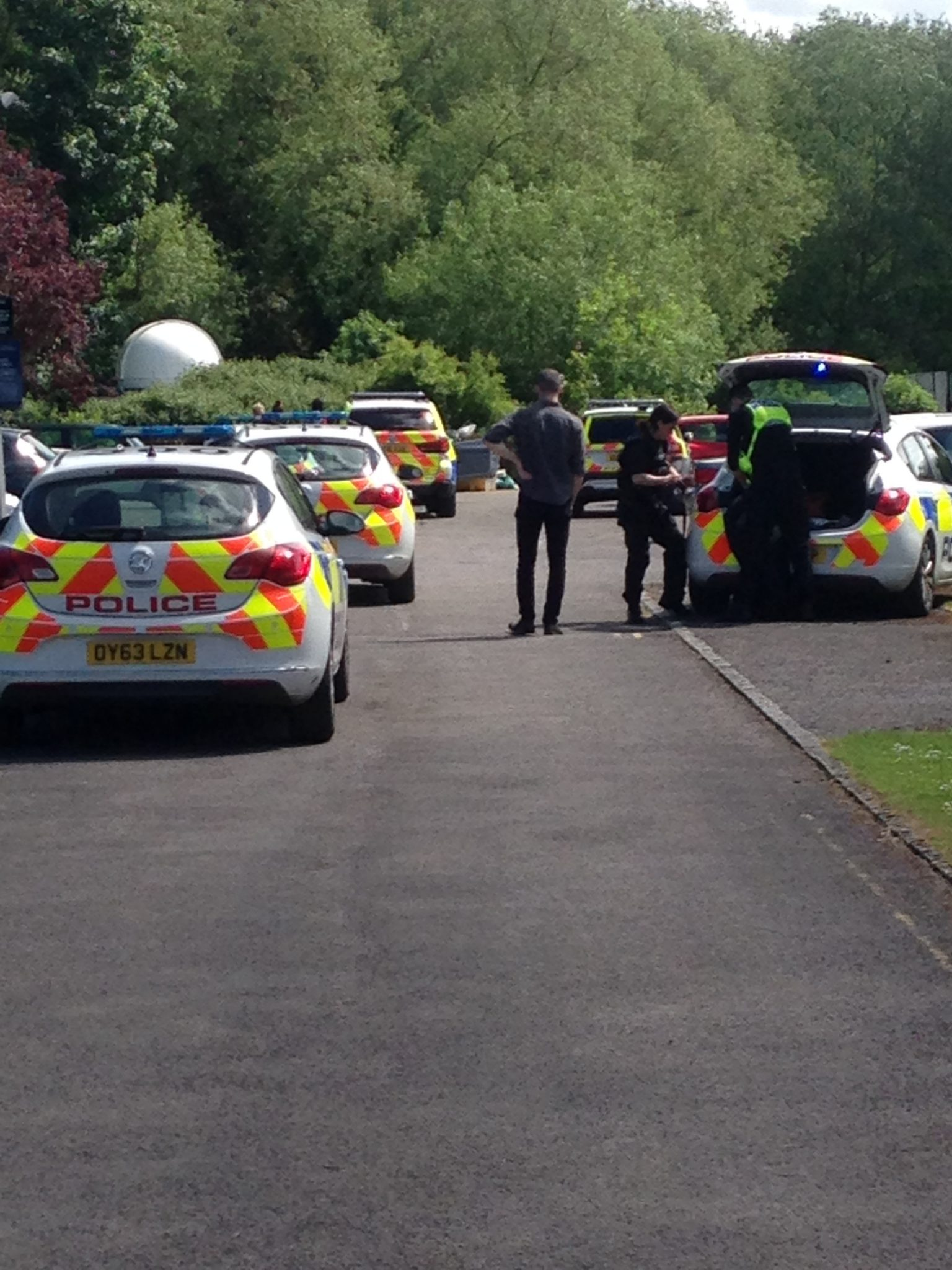 Dramatic car chase ends on Merton sports grounds
