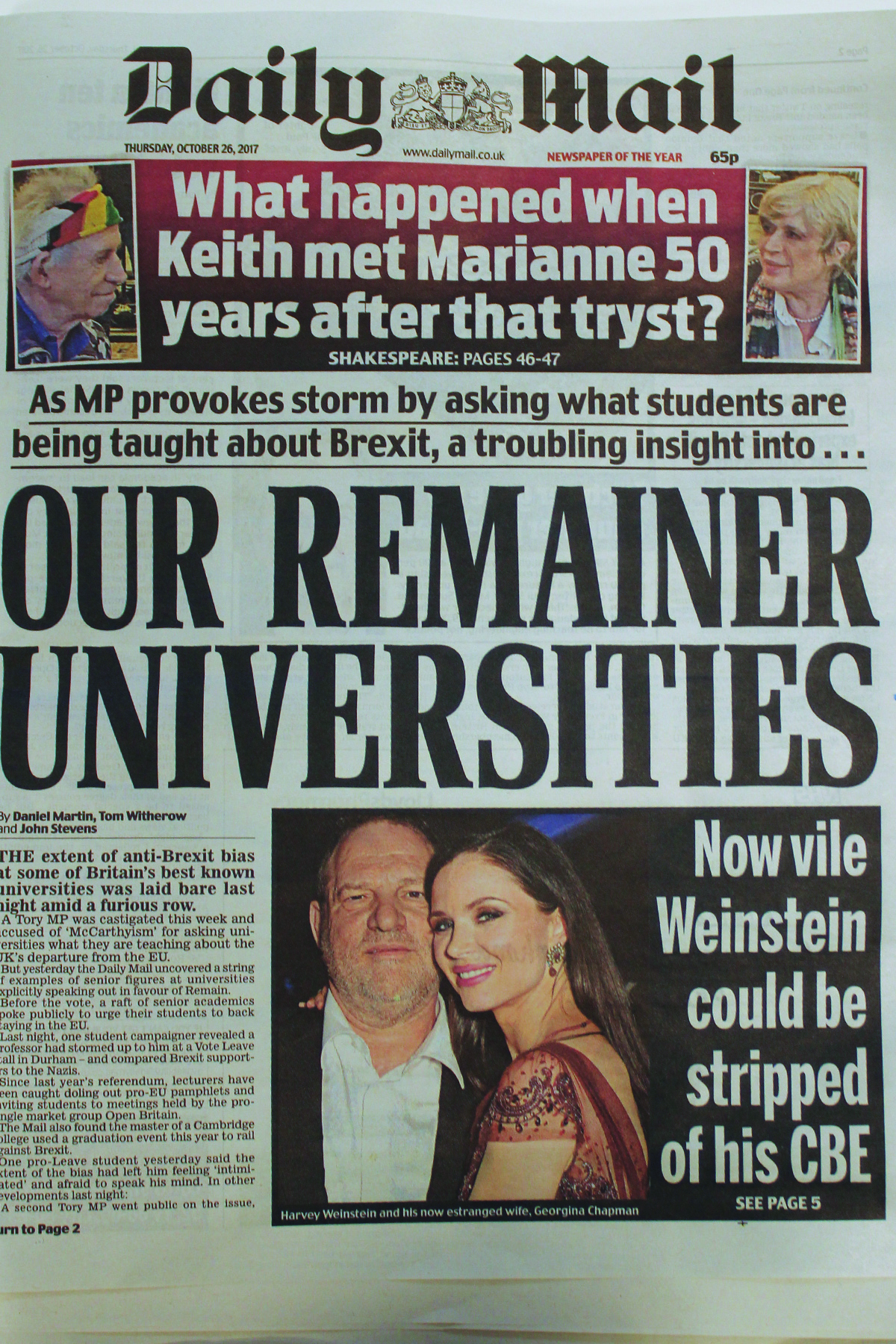 Oxford fights back against Daily Mail's anti-Brexit attacks