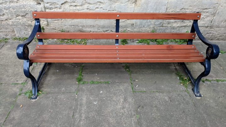 Review of a streetside bench