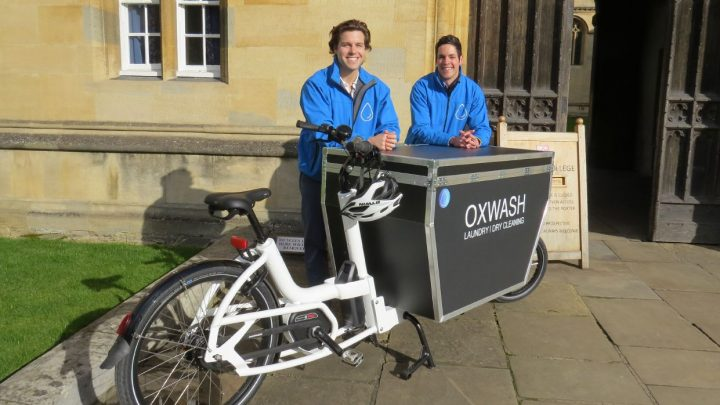 OxWash: Oxford's first bicycle laundry service