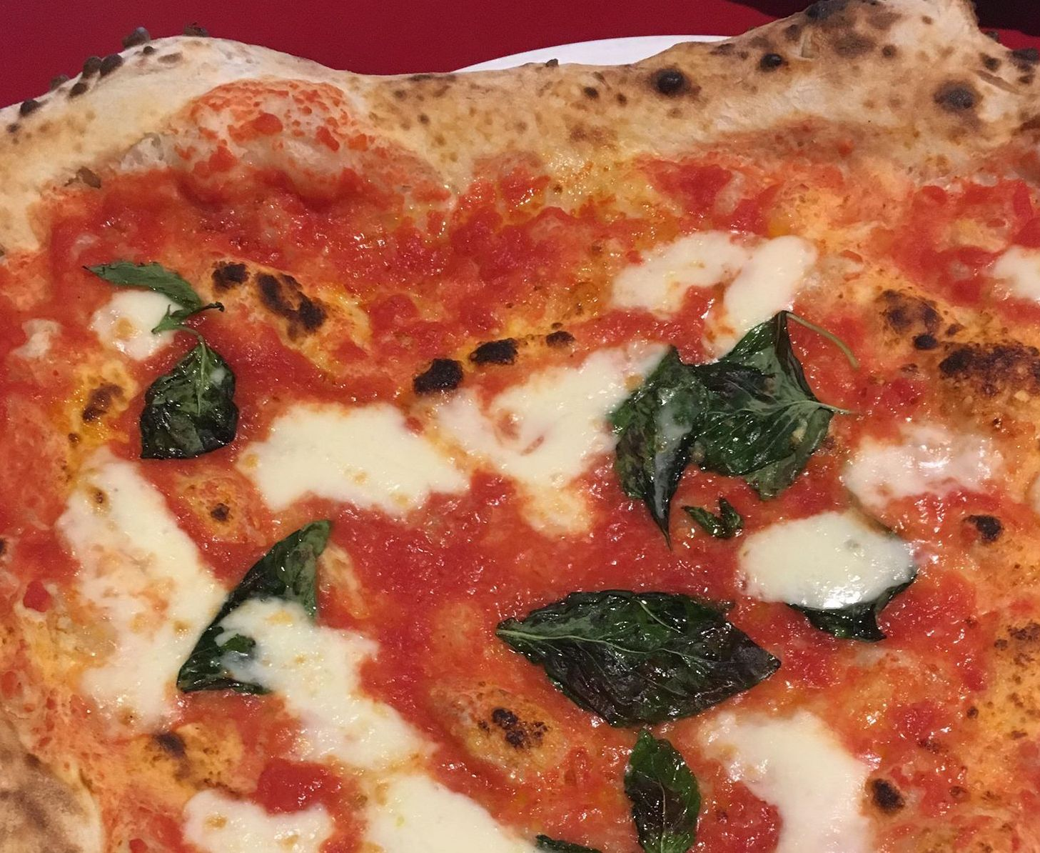 A classic Margherita pizza at Pizza Pilgrims