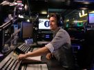 Greg James at his Radio 1 desk