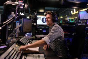 Greg James at his Radio 1 desk