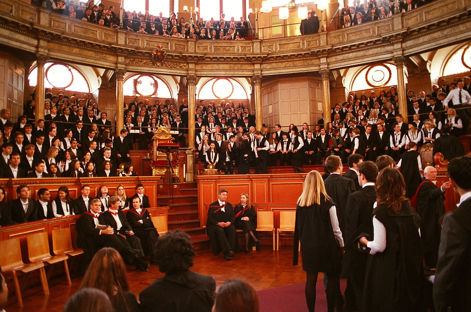 Oxford students are pictured matriculating in 2003.