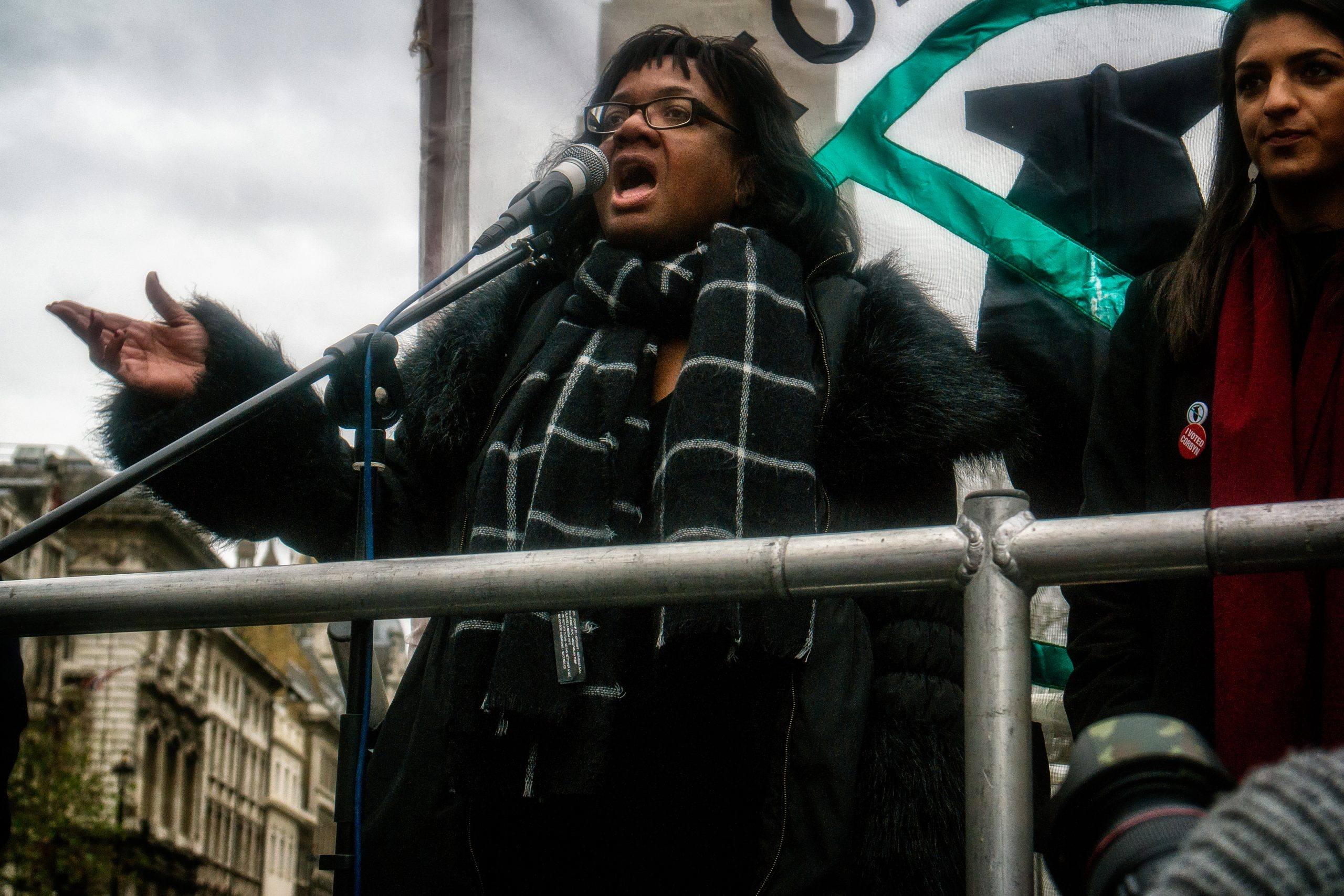 Diane Abbott at 'Don't Bomb Syria' Protest