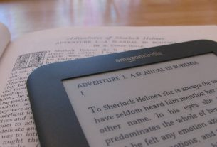 The increasingly popular ebook sat on top of the traditional physical version