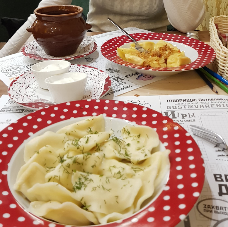 Image description: Pelmeni